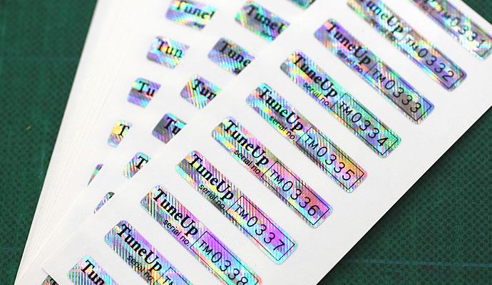 製品銘板シール印刷(製品シール) 製品管理シール