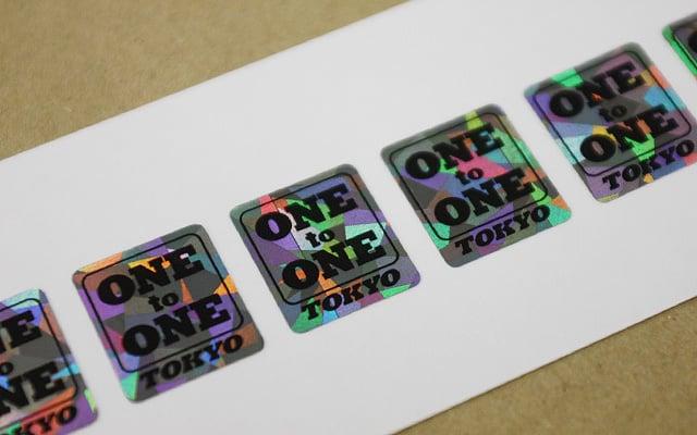 社名・ロゴシール印刷 備品管理用ホログラムシール