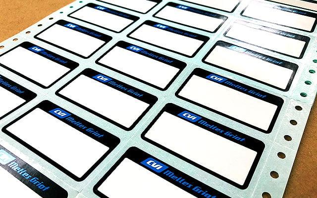 タックフォームラベル印刷(OAラベル)  ドットプリンター用ビジネスフォームラベル