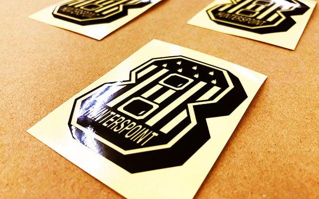 販促ノベルティシール印刷 8の字型ノベルティステッカー