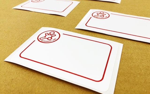 スタッフパスシール印刷 名札用のサテンシール