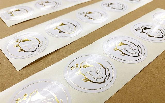 店名・ロゴシール印刷  お客様へ送付する封筒へ貼るショップシール