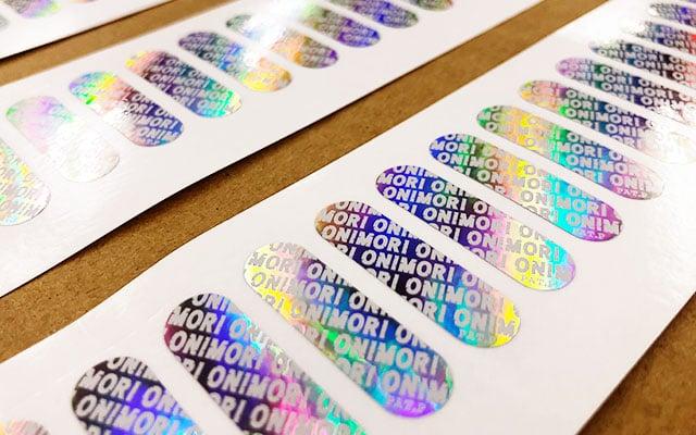 製品銘板シール印刷(製品シール) ブランドプロテクト用ホログラムシール
