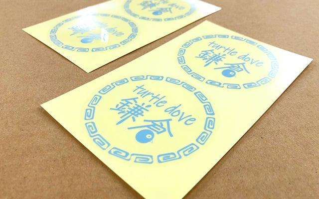 商品ラベル印刷 透明ビニール袋に貼るロゴシール