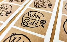 フラワーショップで使うラッピング用ロゴシール印刷