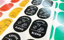 コーヒー豆パッケージラベル