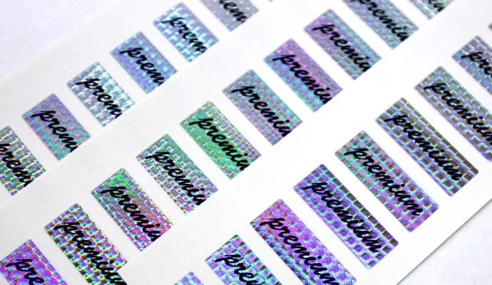 商品ラベル印刷(パッケージラベル)PREMIUMロゴシール