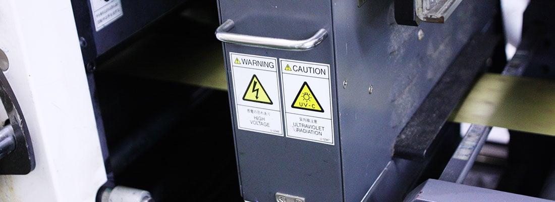 警告注意シール印刷(PLシール)