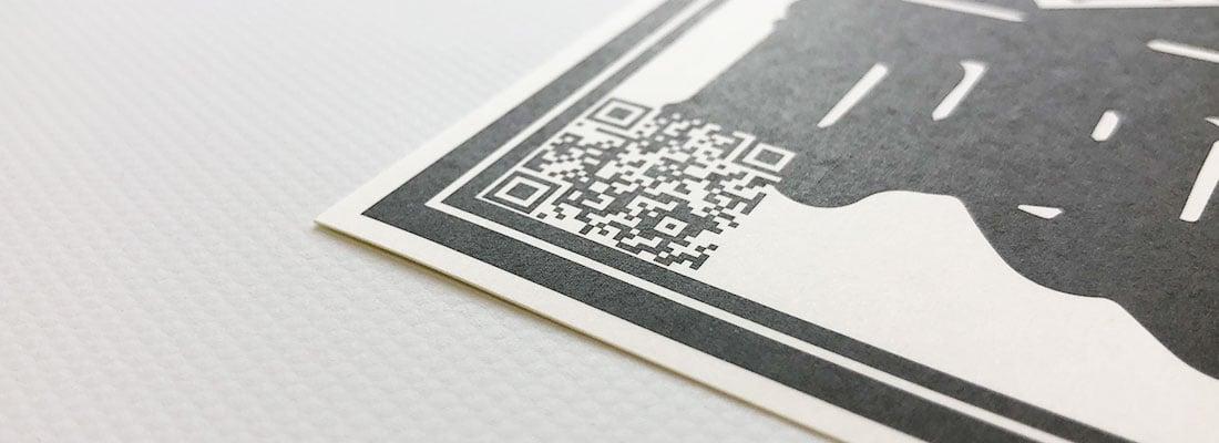 QRコードシール印刷(二次元コードシール)